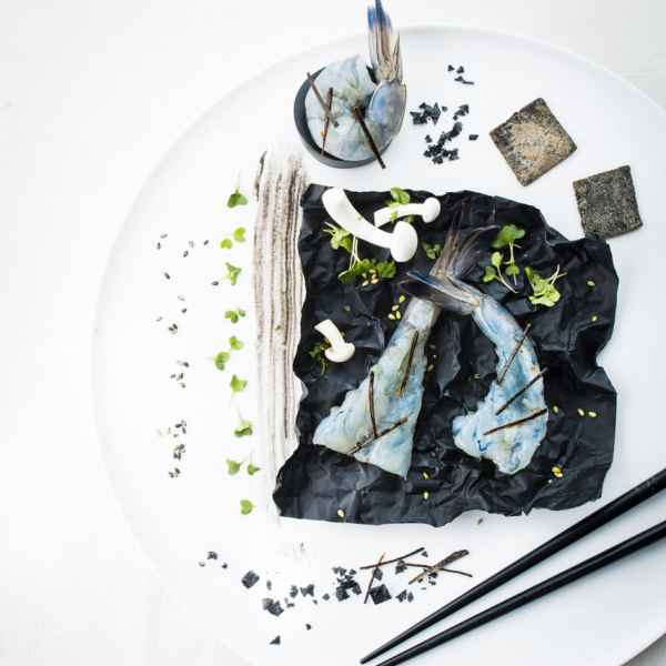 photographe culinaire gastro crevettes chic