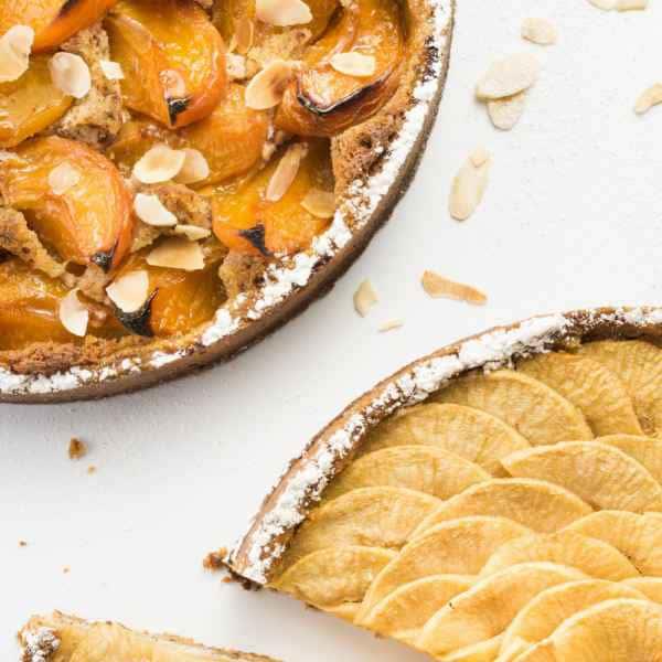 photographe culinaire patisserie patissier tarte aux abricots pommes