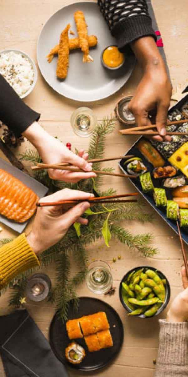 photographe culinaire planet sushi partage noel table de fete