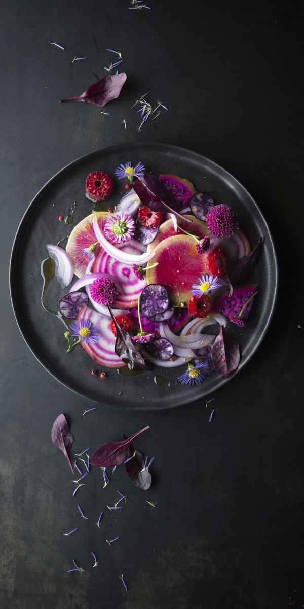 photographe culinaire vegetal vegan legumes violet