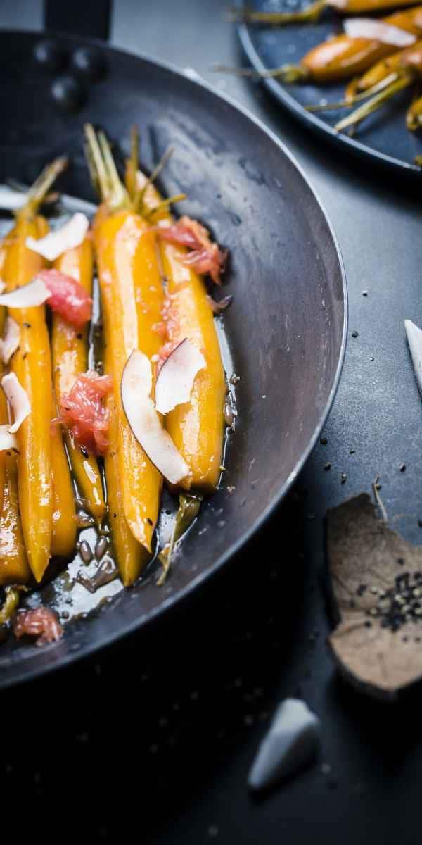 photographe culinaire miel carottes glacees