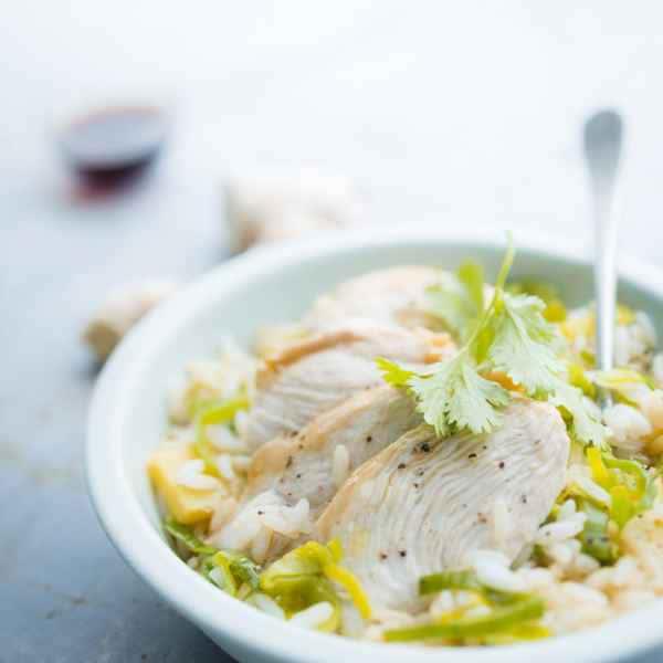 photographe culinaire riz poulet daylight