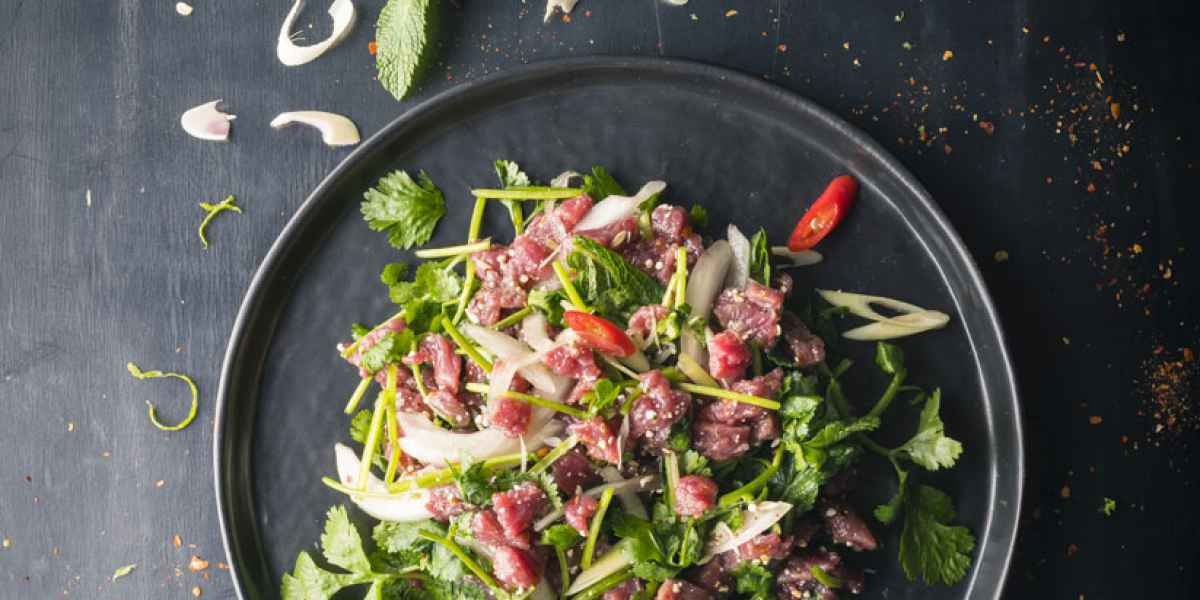photographe culinaire thai food tartare boeuf