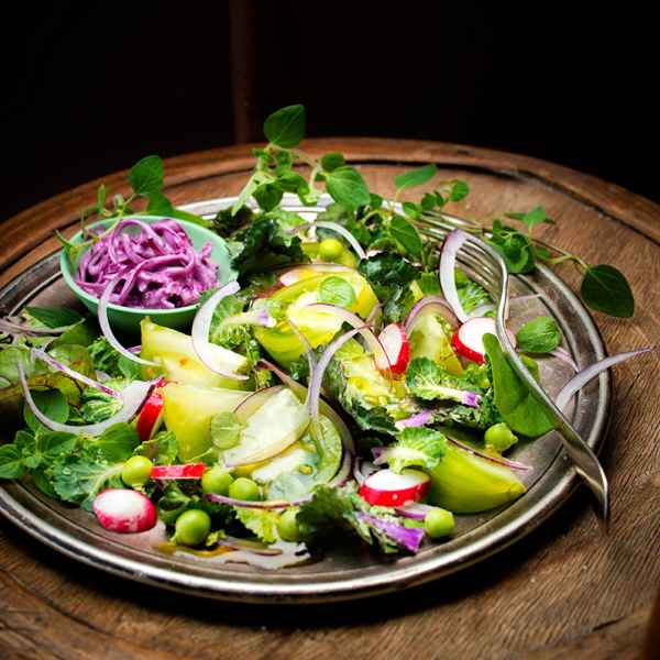 photographe culinaire assiette legumes vert