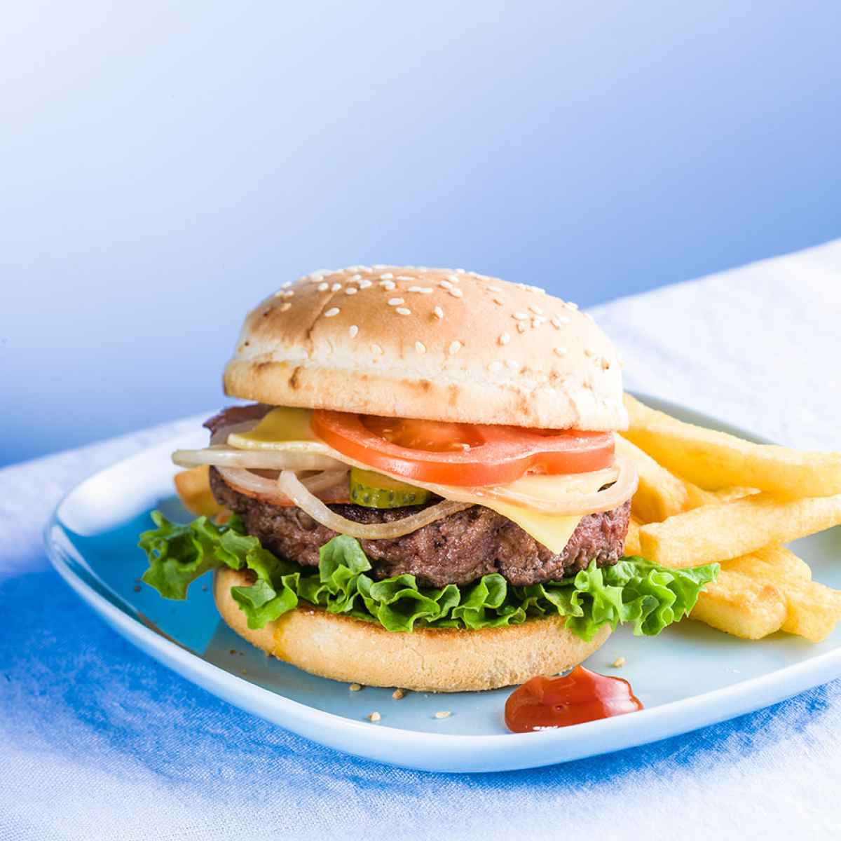 photographe culinaire blue burger