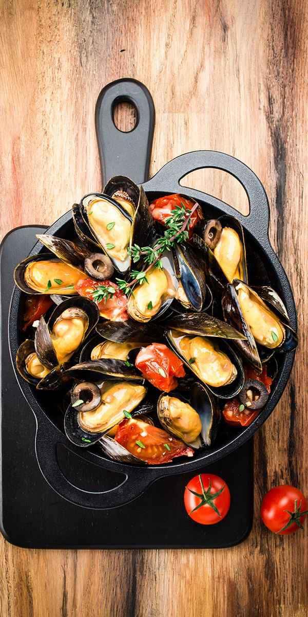 photographe culinaire cocotte moules tomates de bruxelles