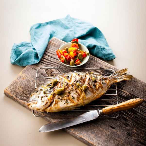 photographe culinaire dorade grillee