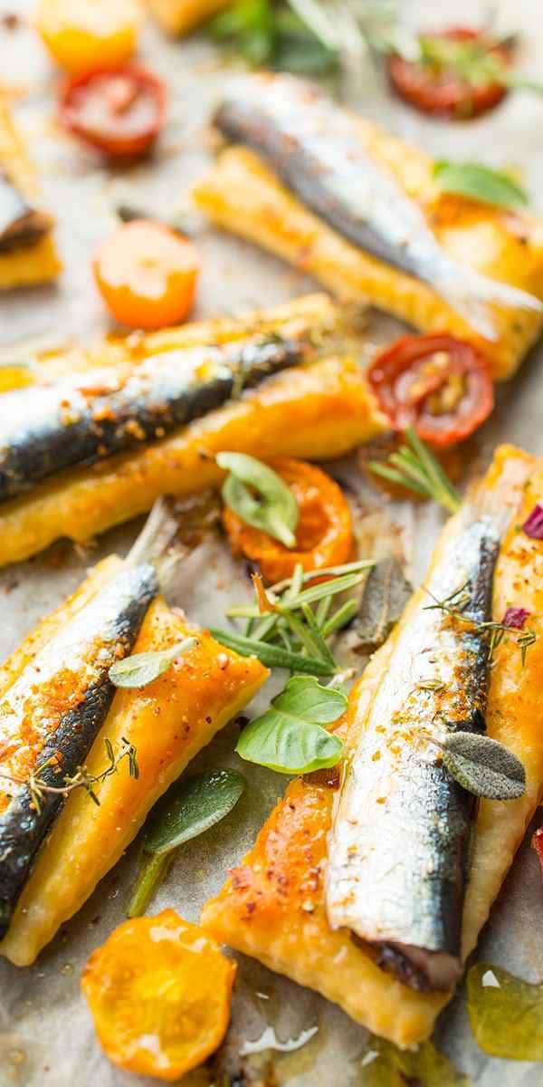 photographe culinaire feuillete sardine