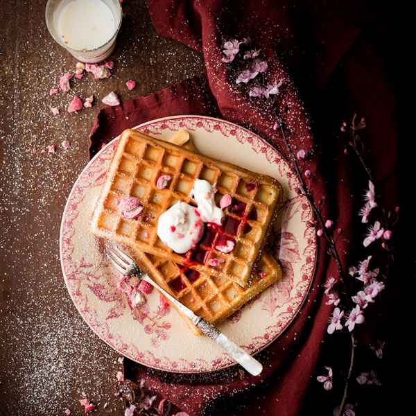 photographe culinaire gaufre praline