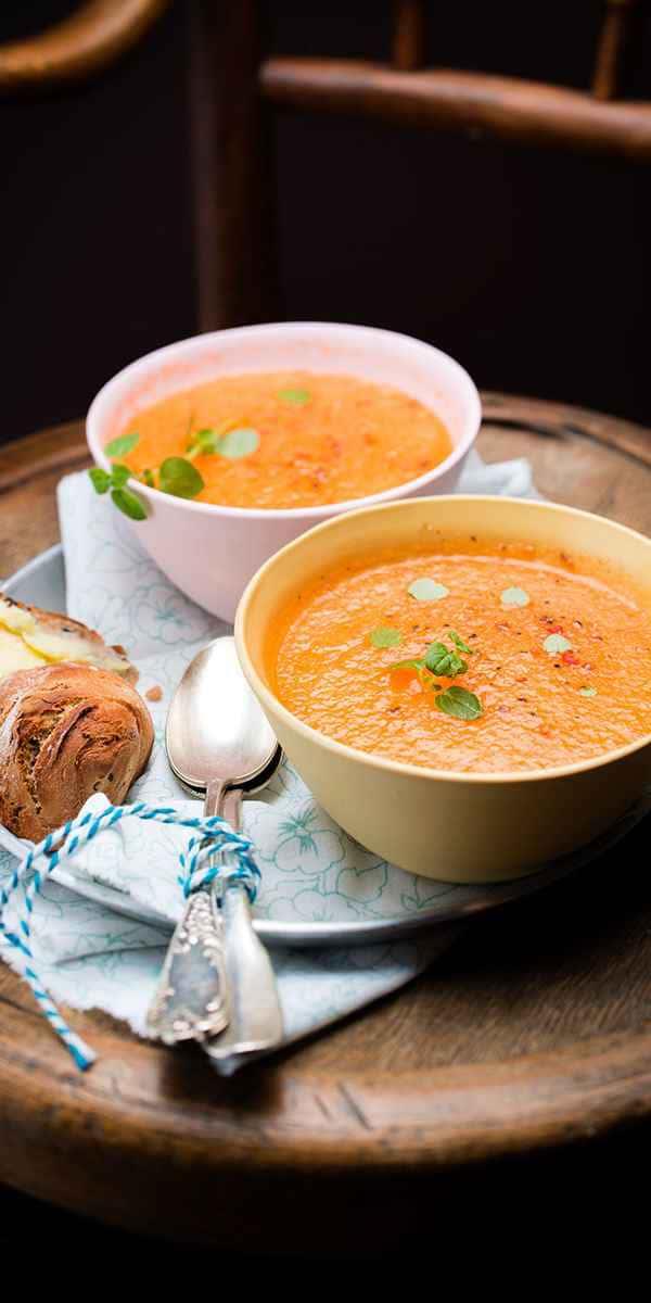 photographe culinaire soupe melon