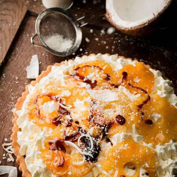 photographe culinaire tarte ananas creme