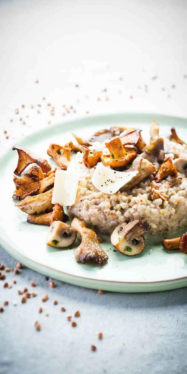 photographe culinaire risotto sarrasin champignon