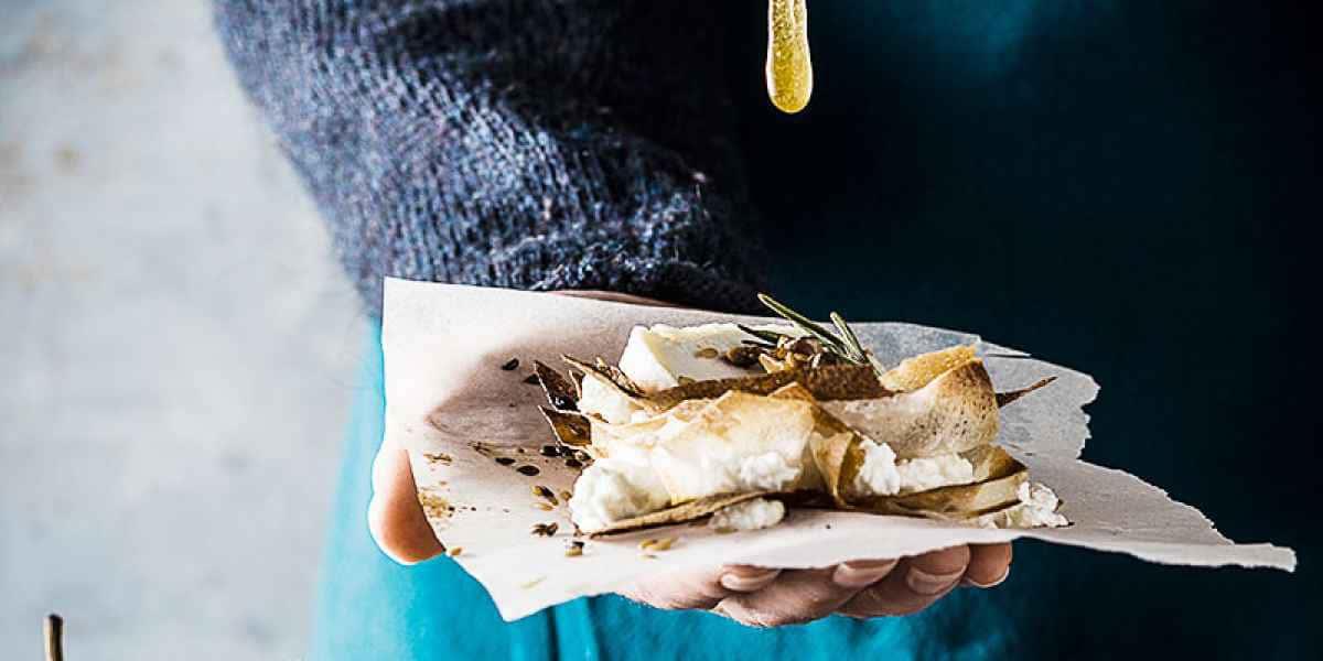 photographe culinaire croustillant chevre miel