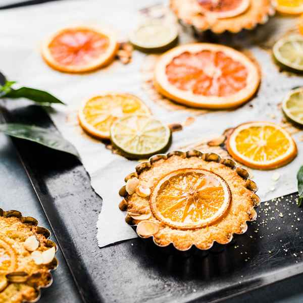 photographe culinaire tartelettes agrumes orange