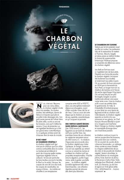 photographe culinaire elle et vire tendance charbon vegetal