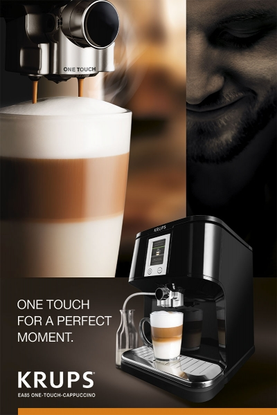 photographe culinaire krups espresso full automatic one touch cafe