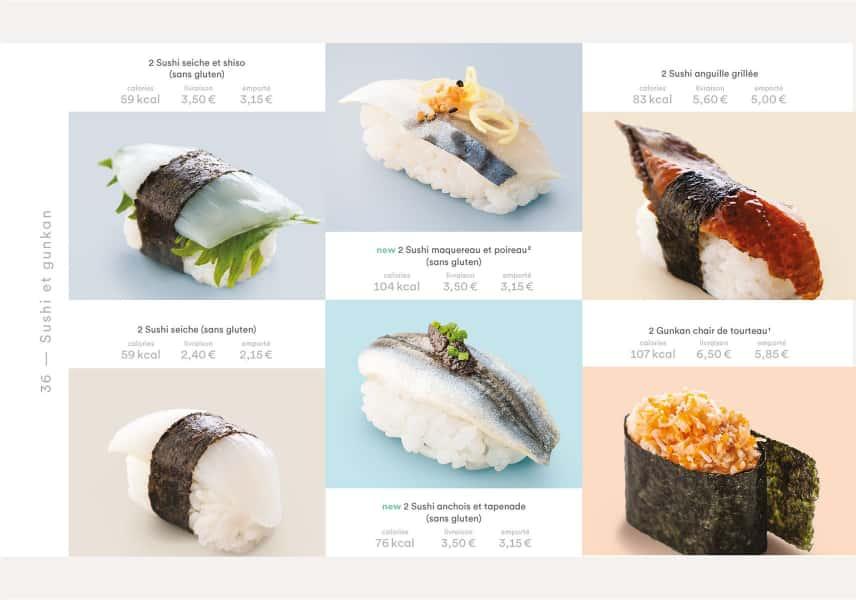 photographe culinaire matsuri carte printemps ete sushi gunkan