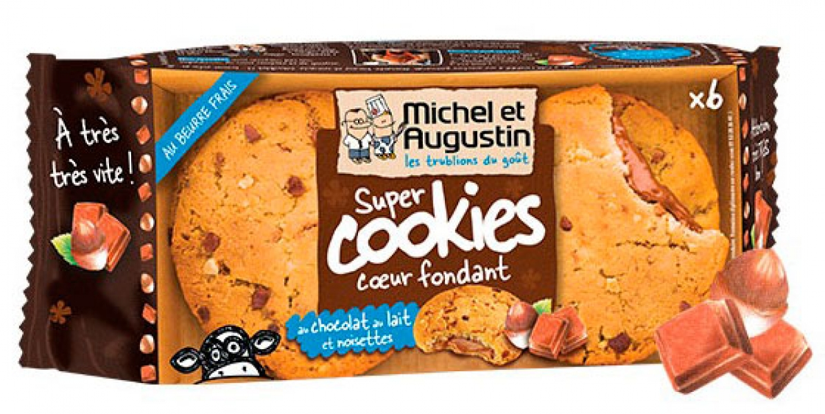 photographe culinaire michel et augustin cookie double culinaire packaging