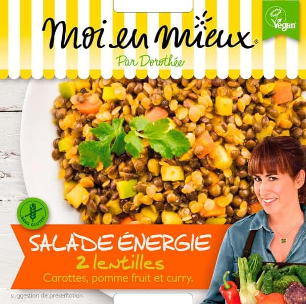 photographe culinaire moi en mieux packaging vegan salade lentille