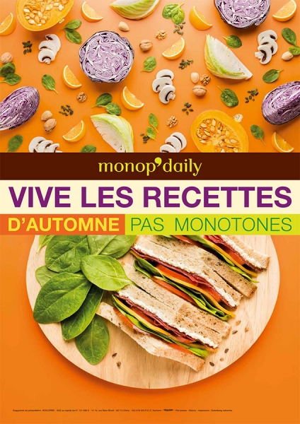 photographe culinaire monop daily automne 2015 culinaire affichage