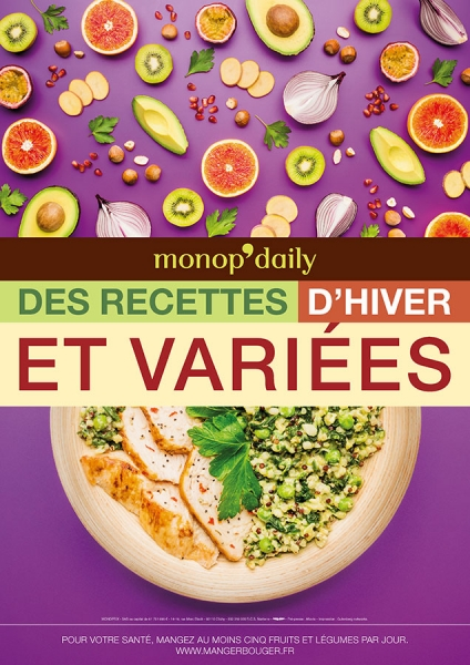 photographe culinaire monop daily hiver 2015 culinaire affichage