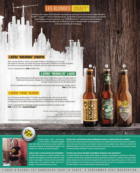 photographe culinaire monoprix catalogue foire biere bouteille