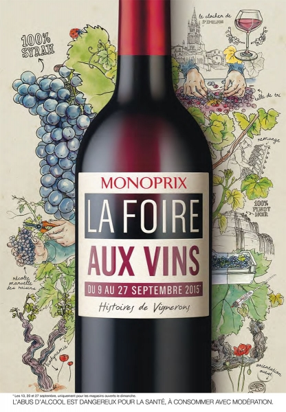 photographe culinaire monoprix catalogue foire vins bouteille
