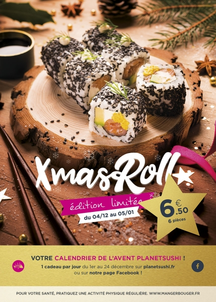 photographe culinaire planet sushi table noel maki roll