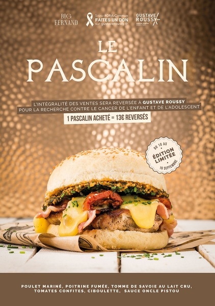 photographe culinaire big fernand burger pascalin cancer gustave roussy