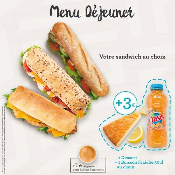 photographe culinaire bonne journee sandwich dejeuner oasis
