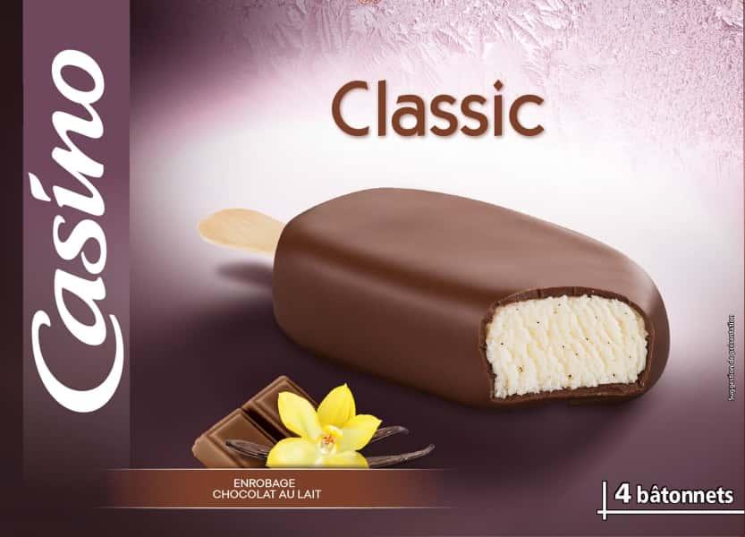 photographe culinaire casino glace classic chocolat lait