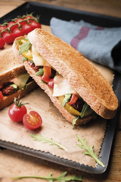 photographe culinaire savencia fromage tranche sandwich chaud