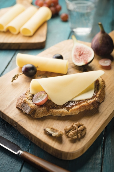 photographe culinaire savencia toast fromage tranche
