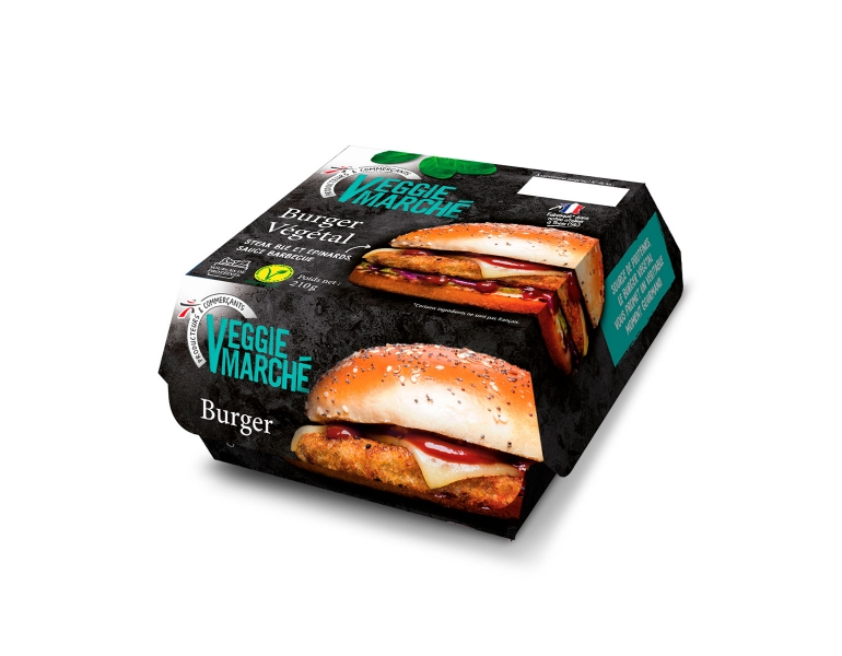 photographe culinaire intermarche veggie packaging burger vegetal