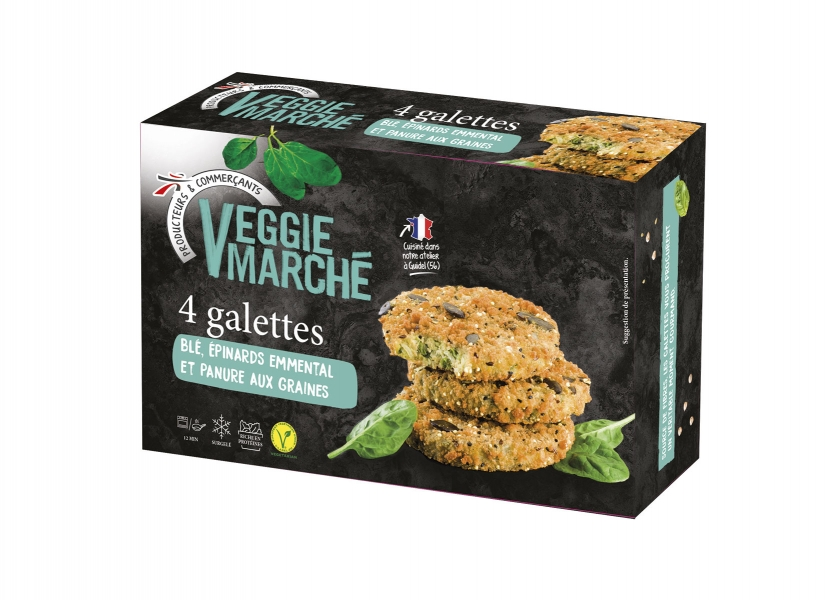photographe culinaire intermarche veggie packaging galettes ble epinard emmental