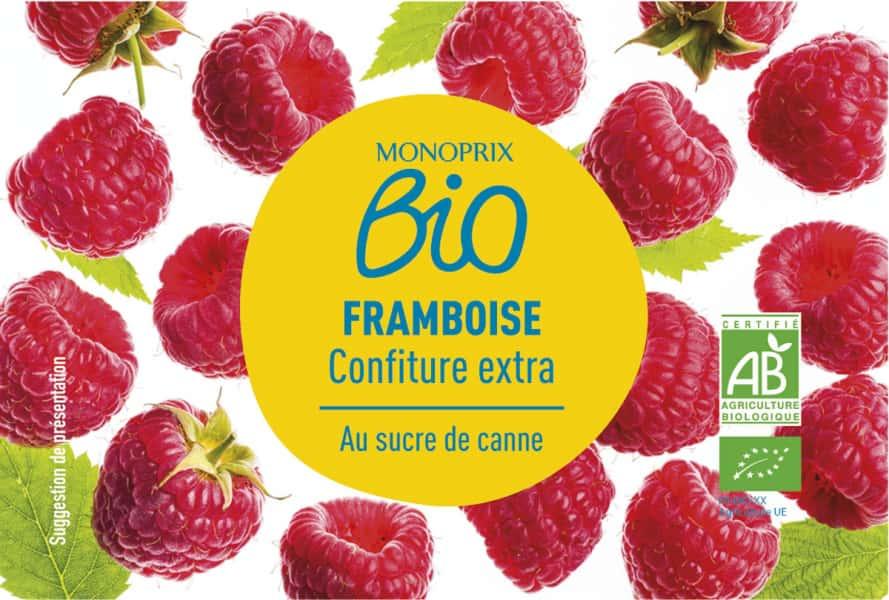 photographe culinaire monoprix bio confiture framboise