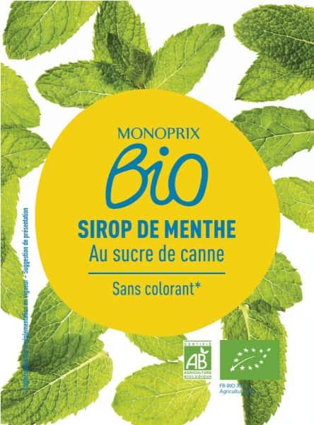 photographe culinaire monoprix bio sirop menthe