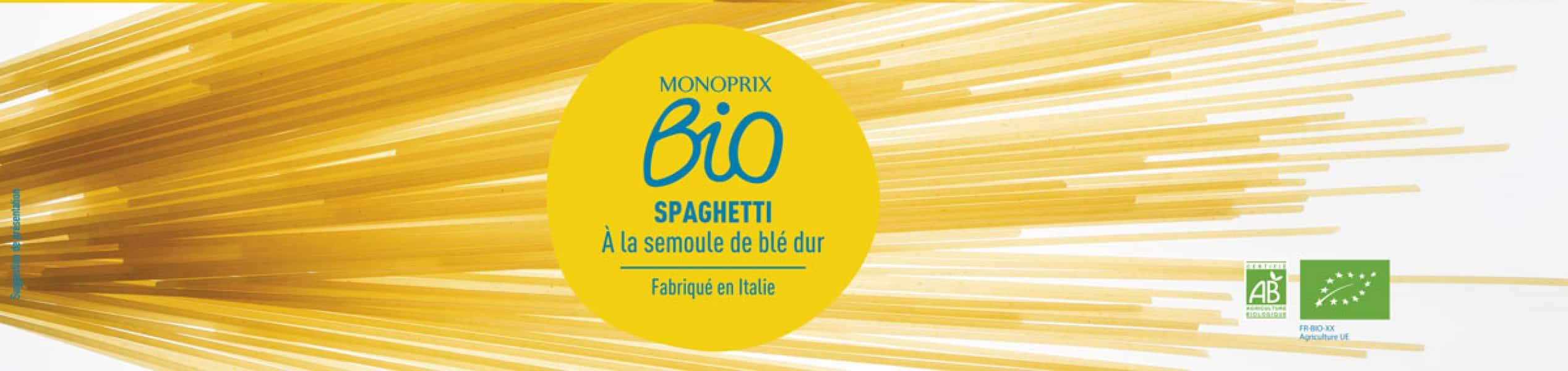 photographe culinaire monoprix bio spaghetti