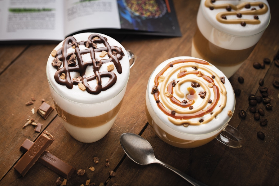 photographe culinaire nestle professional ambiance cafe topping