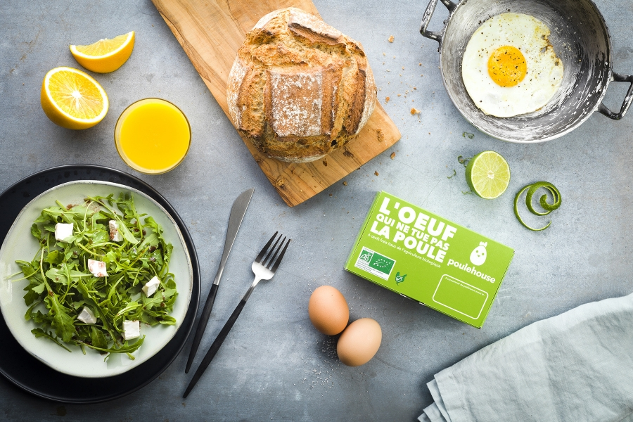 photographe culinaire poulehouse oeuf packaging ambiance