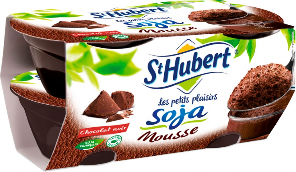 photographe culinaire st hubert packaging mousse soja chocolat