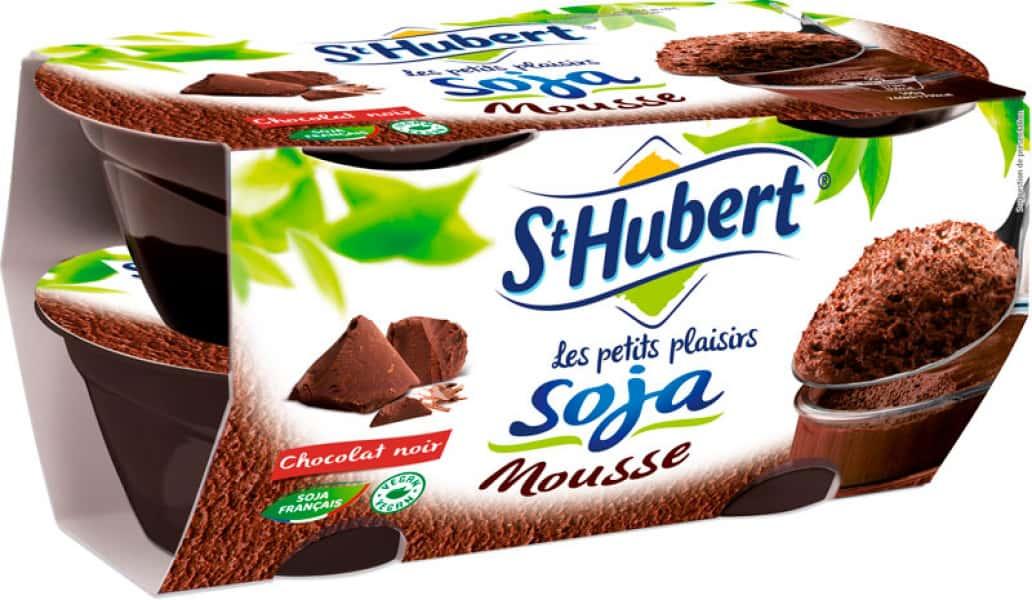 photographe culinaire st hubert packaging mousse soja chocolat