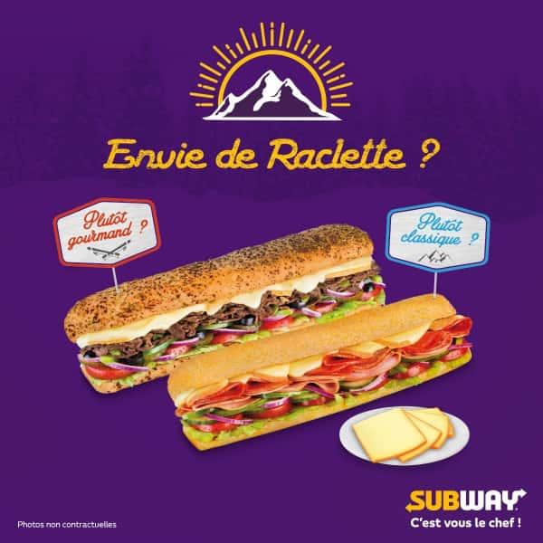 photographe culinaire subway sandwich raclette