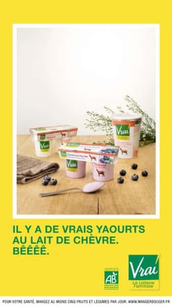 photographe culinaire vrai yaourts chevre bio
