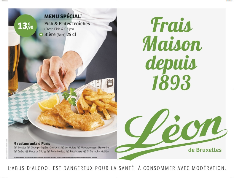 photographe culinaire leon de bruxelles affiche metro fish and chips