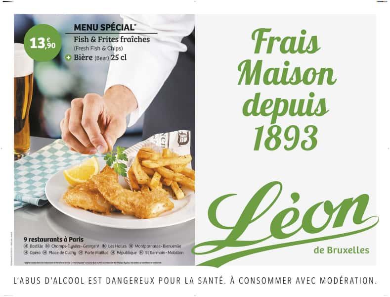 photographe culinaire leon de bruxelles affiche metro fish and chips