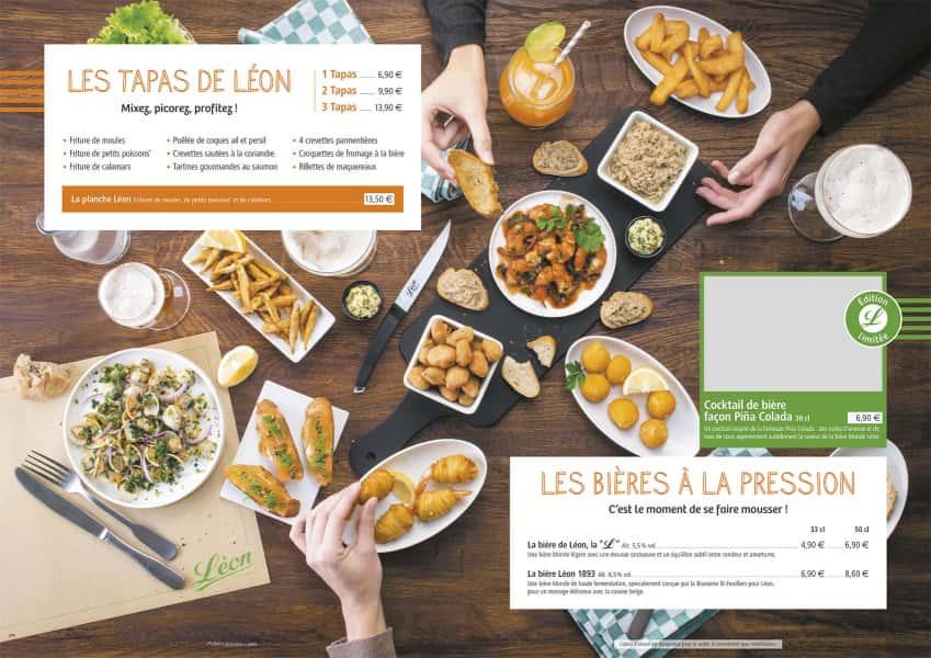 photographe culinaire leon de bruxelles carte table tapas