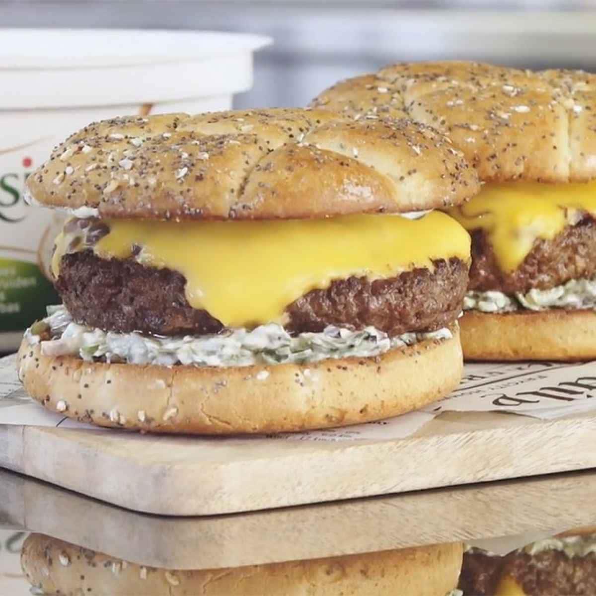 photographe video culinaire bel boursin burger
