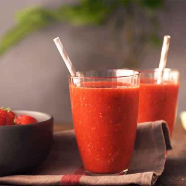 photographe video culinaire soupe de fraises